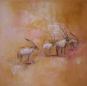 Arabische Oryxantilopen IV