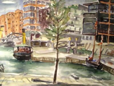 Boote in der HafenCity