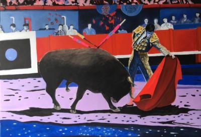Matador mit Stier