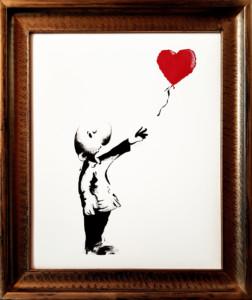 RAY mit Ballon nach Banksy