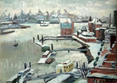 Hamburger Fischmarkt im Winter