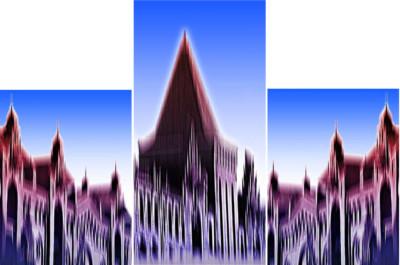 Triptichon Speicherstadt Komposition